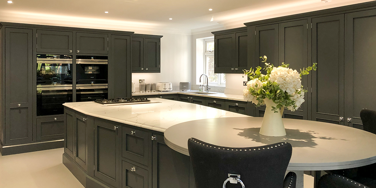 Slate Grey Inframe Shaker Kitchen