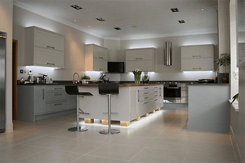 Duck egg & alpine white kitchen Goudhurst Kent