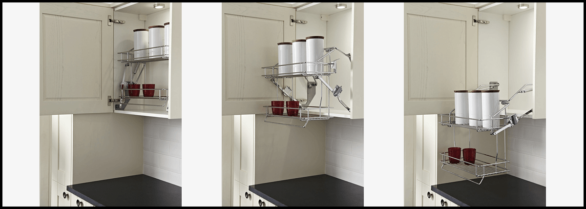 Inclusive Pull Down Shelving Kent