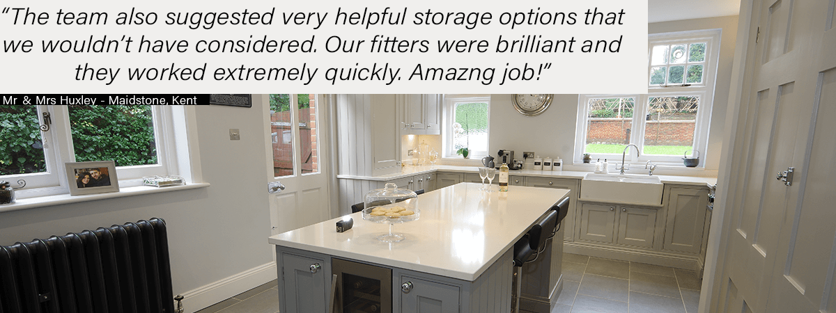 Off White & Light Grey Kitchen Review Kent